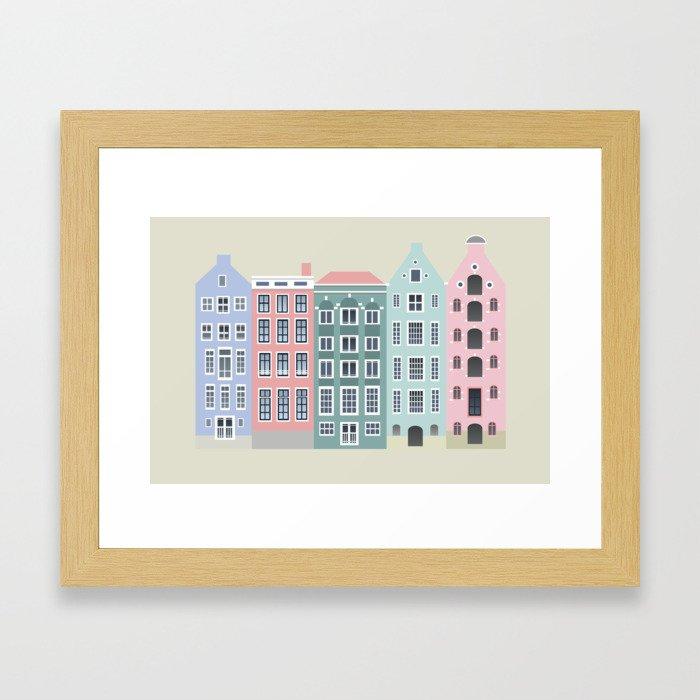Amstedam architecture Gerahmter Kunstdruck
