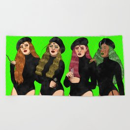 Witches like me Beach Towel
