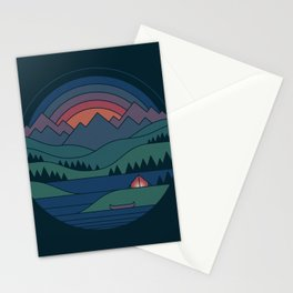 The Lake At Twilight Stationery Cards