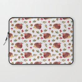 Little Hedgehog Searching Mushrooms In Woodland  Laptop Sleeve