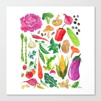 oana befort Canvas Prints featuring VEGGIES by Oana Befort