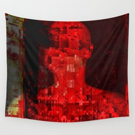 Red code Wall Tapestry