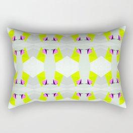 Polygon Neon Rectangular Pillow