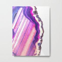 Druze violet agate Metal Print