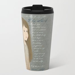 Portrait of Cosette from Les Misérables Travel Mug