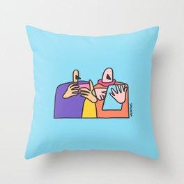 a rectangular life Throw Pillow