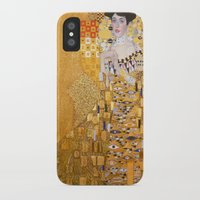 gustav klimt iPhone & iPod Cases featuring Gustav Klimt - The Woman in Gold by Elegant Chaos Gallery