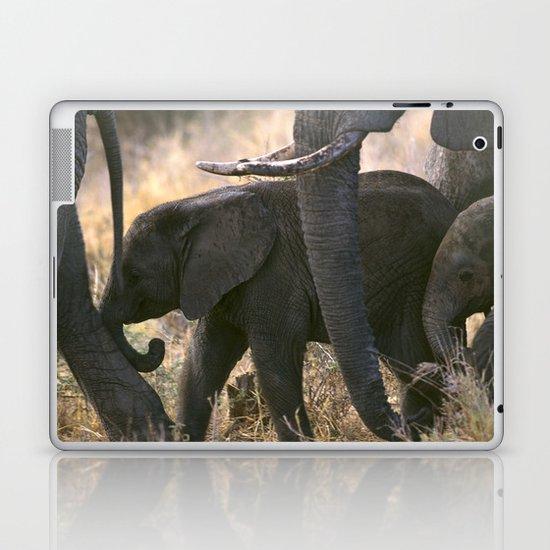 AFRICAN ELEPHANTS Laptop & iPad Skin
