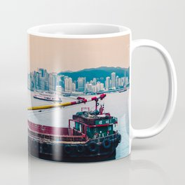 Ship overlooking Hong Kong Coffee Mug