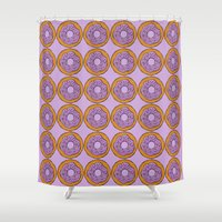doughnut Shower Curtains featuring doughnut by AWOwens