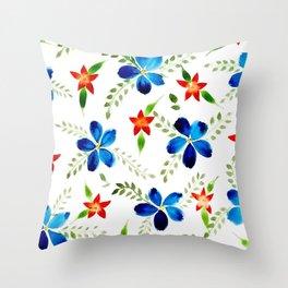 Breezy florals Throw Pillow