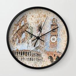 Verona collage Art Wall Clock