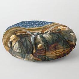 "Edward Burne-Jones ""Perseus and the Graiae"" (I) Floor Pillow"