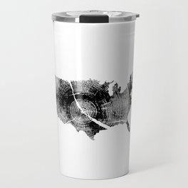 United States Print, Tree rings, Tree stump, Wood grain, Tree ring art Travel Mug