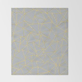 Ab Outline Gold and Grey Throw Blanket