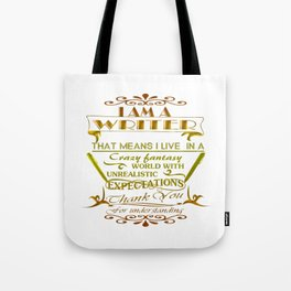 A Writer's World Tote Bag
