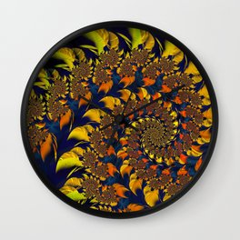 Autumn Leaf Maelstrom Wall Clock