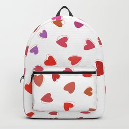 Love, Romance, Hearts - Red White Purple Pink Backpack