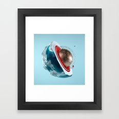 Planet Core Framed Art Print
