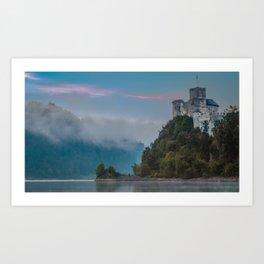 Niedzica Castle Sunrise Landscape Art Print