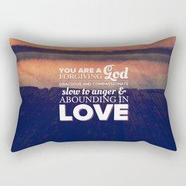 Forgiving God - Nehemiah 9:17 Rectangular Pillow