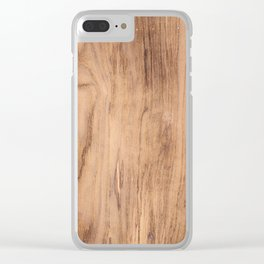 Brown wood pattern Clear iPhone Case