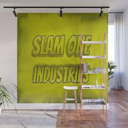 Slam 1 Industries Yellow Smoke Wall Mural