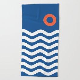Nautical 03 Seascape Beach Towel