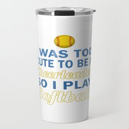 Cute Cheerleader Softball Travel Mug