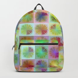 Four citrus fruits pattern Backpack