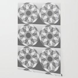 Silver discs Wallpaper