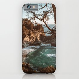 Big Sur Sunset at McWay Falls iPhone Case