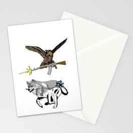 OWL WOLF ALLIANCE 3 Stationery Cards