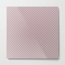 Nostalgia Rose and White Polka Dots Metal Print