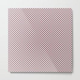 Nostalgia Rose and White Polka Dots Metal Print