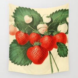HOVEYS SEEDLING STRAWBERRY. Wall Tapestry