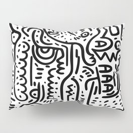 Street Art Graffiti Love Black and White Pillow Sham