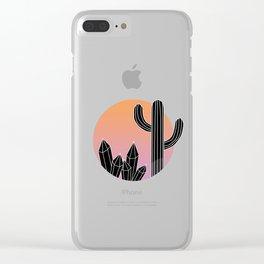 SU N S E T Clear iPhone Case