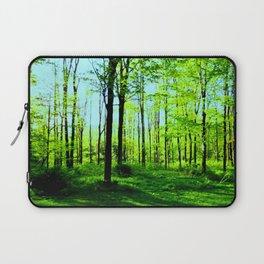 Sky Blue Morning Forest Laptop Sleeve