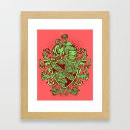 Tri-Beta Crest Framed Art Print