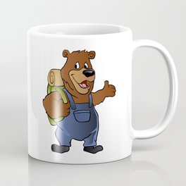 bear hiker. Coffee Mug