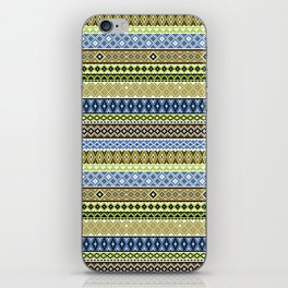 Knitted Series - Lavender / Lime iPhone Skin