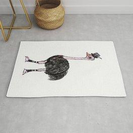 Steampunk Ostrich Rug