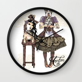 Kawaii and dog Tonton AL 2013 Wall Clock