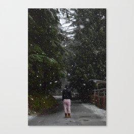 Pajamas in the Snow - Silverdale, Washington State Canvas Print