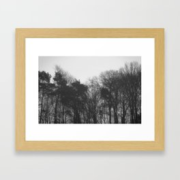 Trees in black and white vintage Framed Art Print