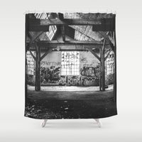 industrial Shower Curtains featuring Industrial III by Renata's Photobox