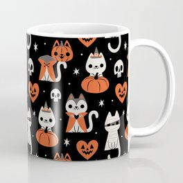 Halloween Kitties (Black) Coffee Mug
