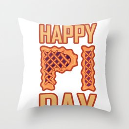 Awesome Happy Pi Day design Gift Student Math Pie Gift Throw Pillow