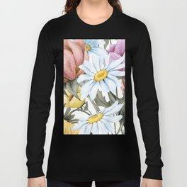 Summer Floral Watercolour Bouquet Long Sleeve T-shirt
